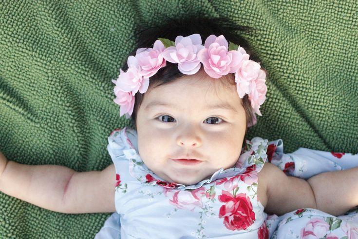 DIY Hydrangea Baby Headband Tutorial -  Leis