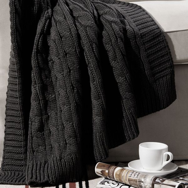 Cable Knitted Throw - Overstock™ Shopping - Great Deals on Throws