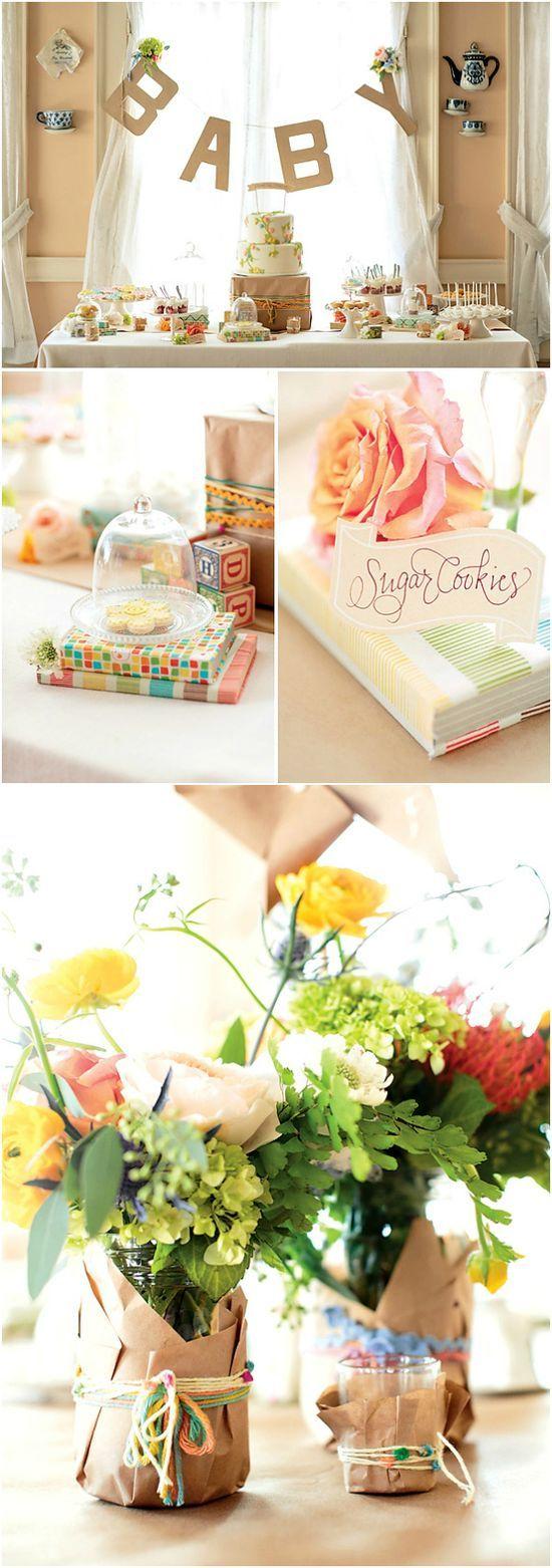 Cute baby shower idea #babyteaparty #babyshowerdecor #babydecoratingideas