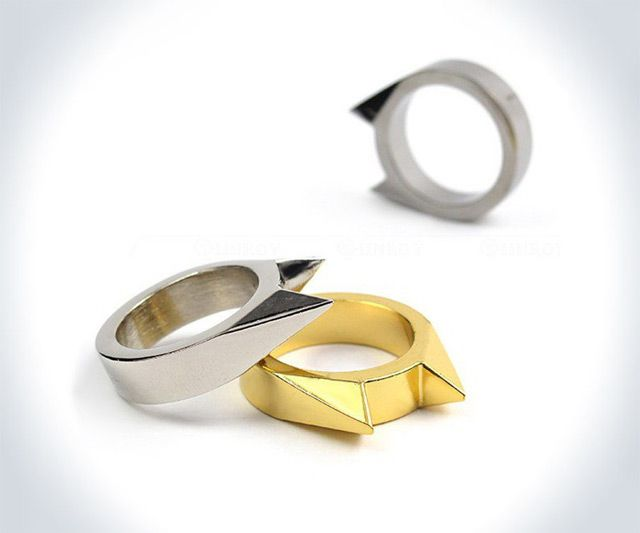 Some kittehs can haz cheezburger. Other kittehs can mak yur face cheezburger. Like this kitteh, smithed into a sweet ring with conflict-ready stainless steel cat ears. I'd say it would make a great gift for your girlfriend, but I guess that really depend
