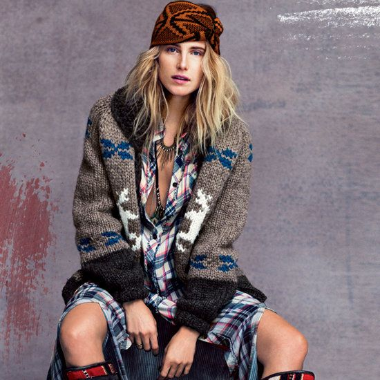 love everything about dree hemingway's styling for current free peeps catalog, esp this look with knit headwrap and cozy sweater.