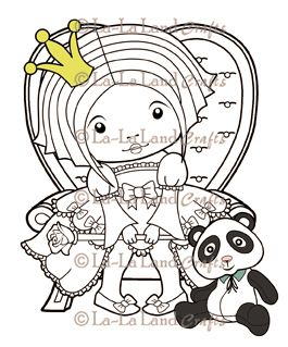 Sitting Princess Marci Scene - DIGI Stamp