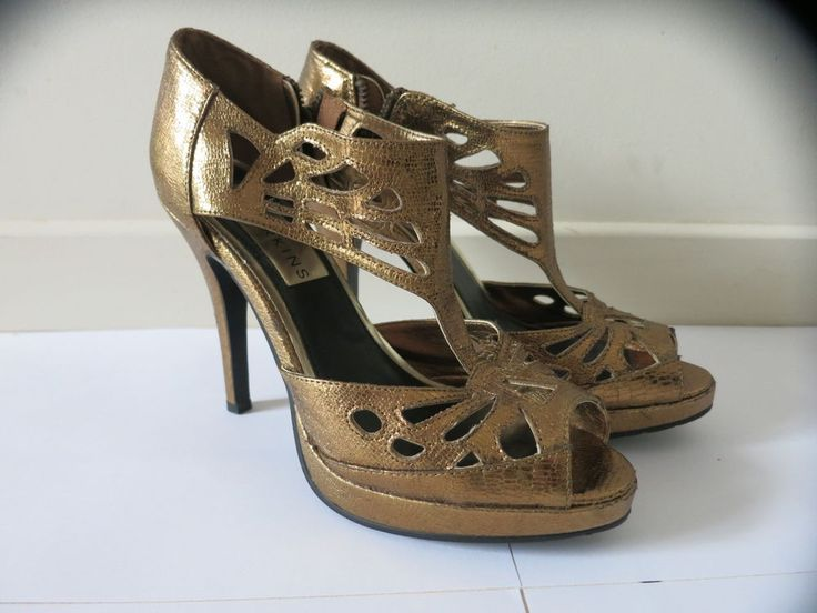 BARKINS High Heel Shoes Size 6 Gold Bronze BUY 4 or more items 4 FREE POST #Barkins #SpecialOccasion