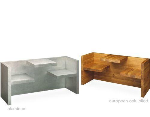 E15 Tafel Hp01 Design Hans De Pelsmacker, 2000 Oiled Solid European Oak,  Aluminum Made