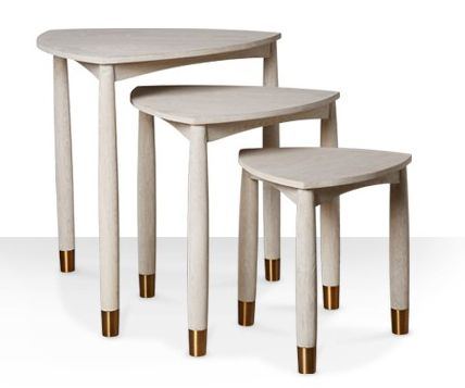 Product: Athos table set in grey wash and brass, £299. SWOONEDITIONS.COM