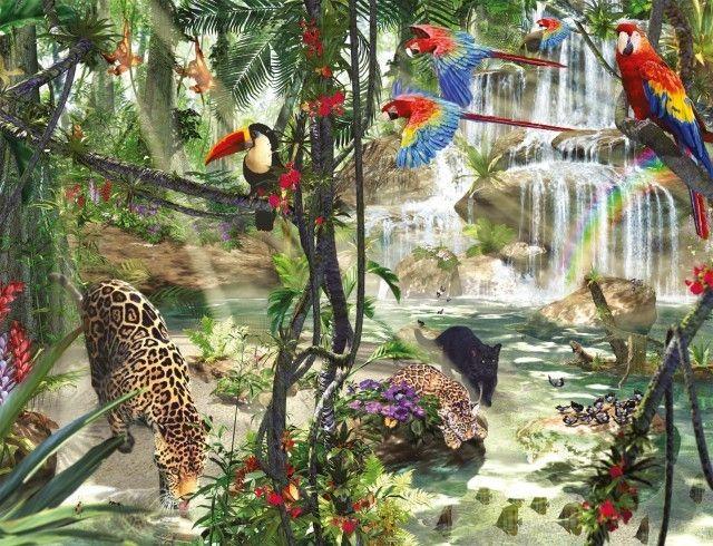 Jungle impressies  Stukjes: 2.000 Afmetingen: 98x75cm Artikel: 166107 ...
