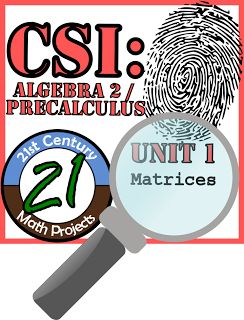 21st Century Math Projects -- Engaging Middle & High School Math Projects: CSI: Algebra 2 / Pre-Calculus Underway!