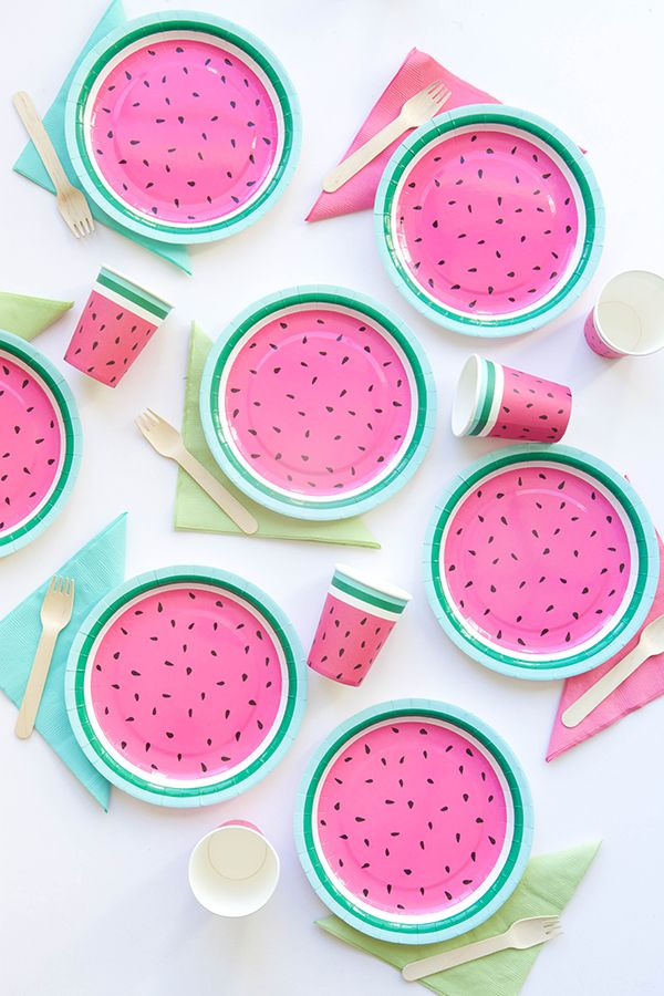 Watermelon Plates (Oh Happy Day!)