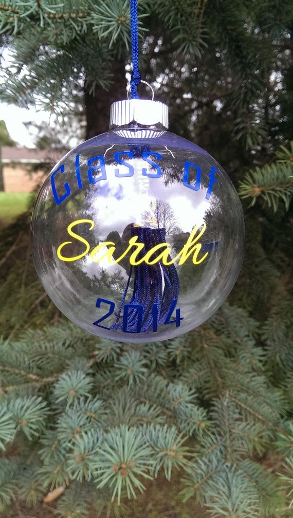 Each ornament will be personalized with high quality vinyl in your schools colors, all you have to do is add the tassel. Description from etsy.com. I searched for this on bing.com/images