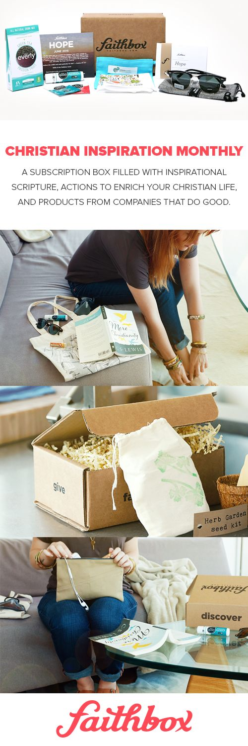 Every Faithbox is filled with socially-responsible products from amazing companies that make a positive impact and a daily Christian devotional to help you strengthen your faith every day! Plus, every box shipped provides 3 meals to hungry kids all over!