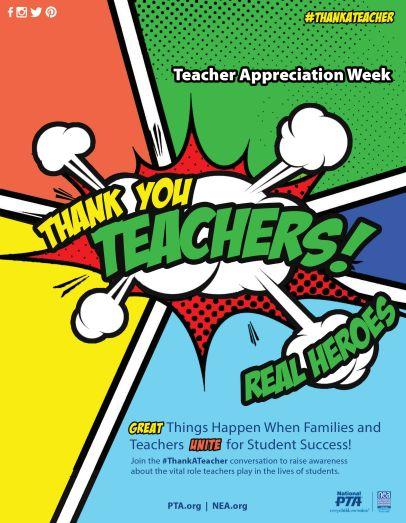 Use this flyer to promote Teacher Appreciation Week! #ThankATeacher
