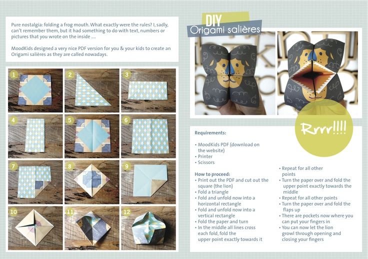 To all our lovely foreign readers from MoodKids.nl HOW TO origami Salieres (zoutvaatje vouwen) DIY  Enjoy! And show us the results!