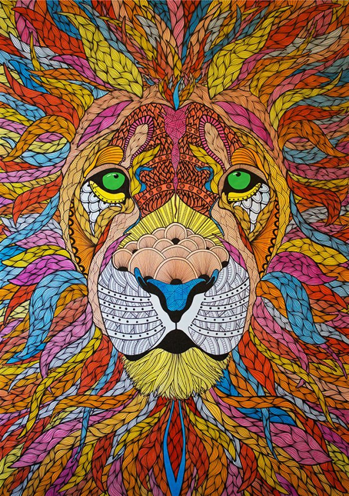 Lion illustration, Drawpaint Illustration