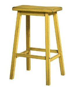 Amazon.com: Yellow Antique Bar Stools 29 Inches Set of 2 Traditional Home Kitchen Patio Breakfast Indoor For Sale Tabouret Wood Chairs Restaurant Retro Furniture Rustic Seats Garage Inch Pub Sports Backless: Kitchen & Dining
