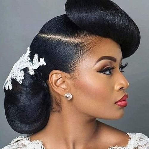 Askmencom Wedding Hair Style: 50 Short Wedding Hairstyles For Black Women 2019