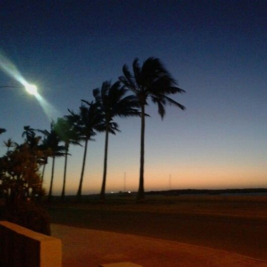 Sunset from the Carnarvon hotel