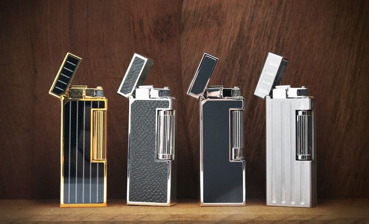 Dunhill Pipes --- The classic elegance of the Dunhill Rollagas lighter. #dunhill #lighter #rollagas #elegance #classic