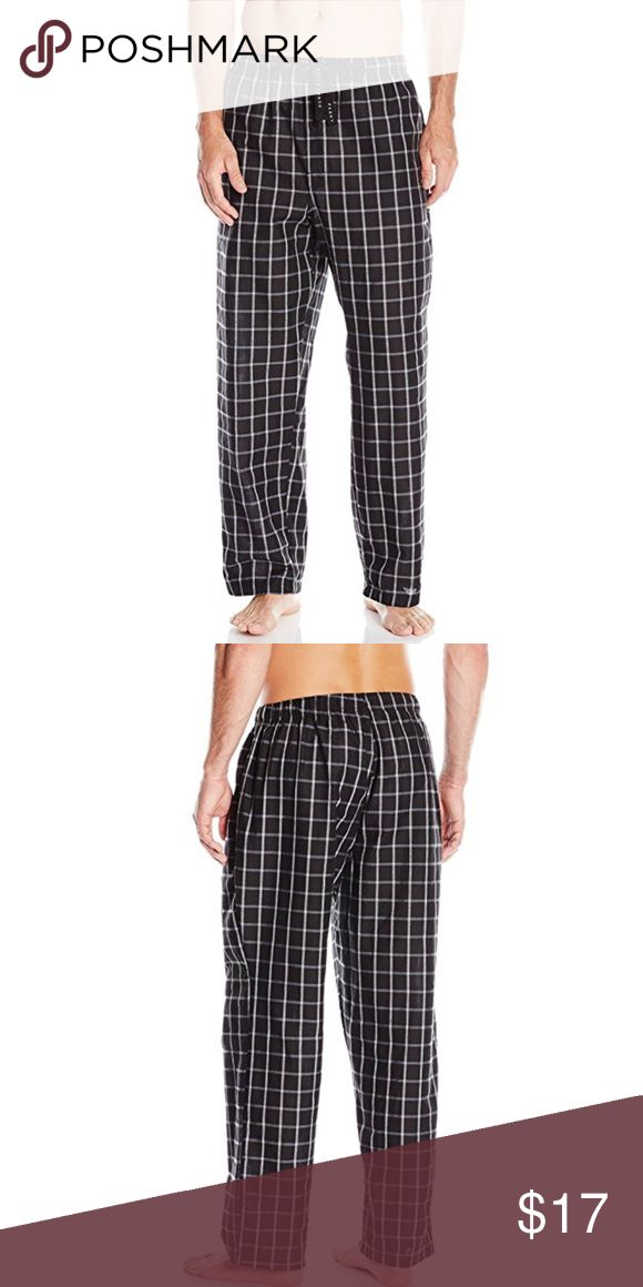 Perry Ellis Men's Woven Grid Plaid Sleep Pant Relaxed fit woven pants great for lounging or as sleepwear. The soft touch fabric provides all over comfort and retains color brilliance. UPC : 9622 S: XL 2 available  UPC : 0000 S: M (no tag) Perry Ellis Pants Sweatpants & Joggers