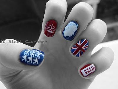 Brit Nail Art!Jubilant Nails, Nails Artistry, God Saving, British Nails, Nails Polish, Brit Nails, Patriots Nails, Nails Varnish, Nails England