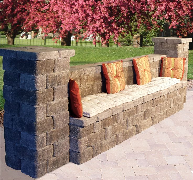 Outdoor Benches | Keystone Retaining Wall Systems