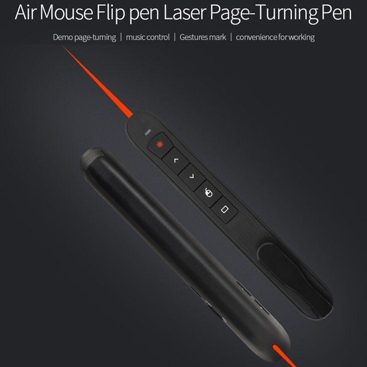 [AVATTO] RF 2.4G Presentador Inalámbrico con Función de Ratón Aire Clicker Presentación PowerPoint PPT Control Remoto Puntero Láser pluma