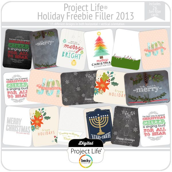 FREE Project Life Holiday Freebie Filler 2013