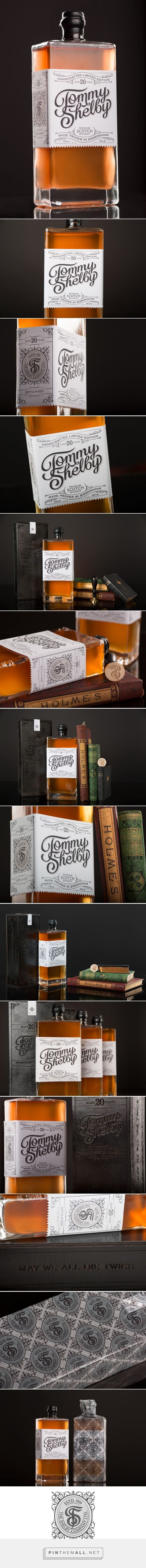 Tommy Shelby #Whiskey #concept #packaging designed by Scott Biersack - http://www.packagingoftheworld.com/2015/04/tommy-shelby-whiskey-student-project.html