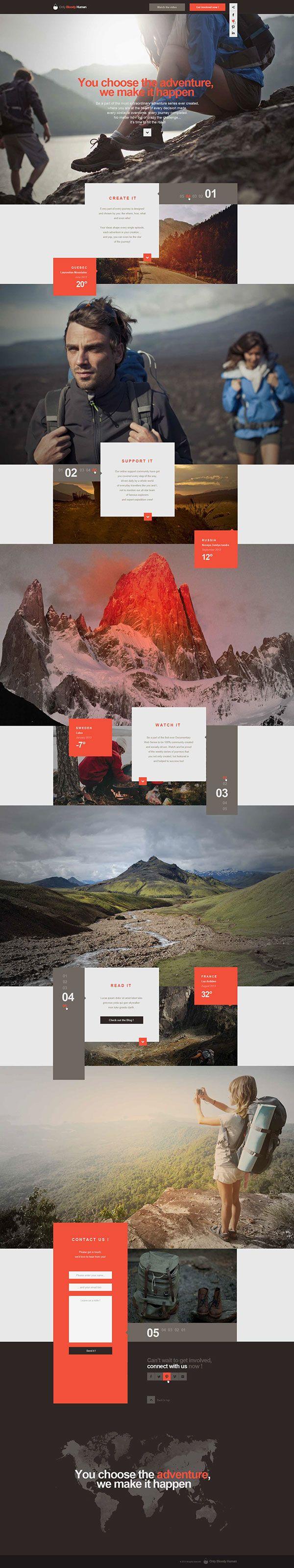 Web | OBH Landing Page Concept on Web Design Served