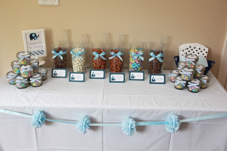 Elephant Baby Shower Peanut Favor Bar by 5M Creations