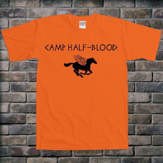 Camp Half-Blood Greek Mythology Percy Jackson Book Hipster Novelty T-shirt Tee Shirt