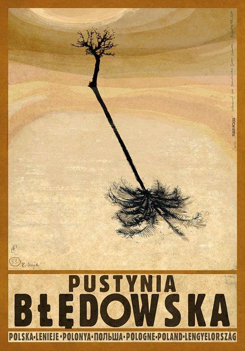 Pustynia Bledowska, Polish Promotion Poster by Ryszard Kaja