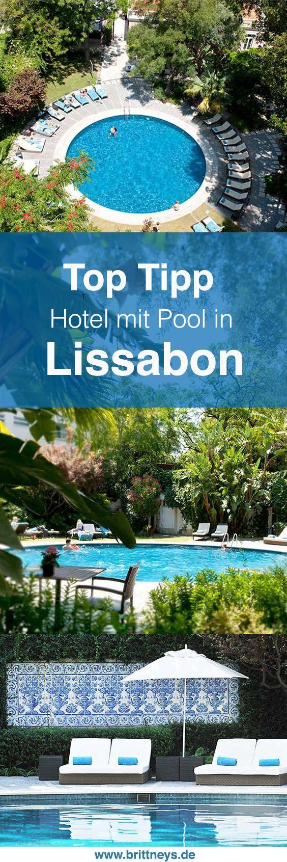Du suchst ein Luxushotel in Portugal? Wie wäre es mit diesem ultimativen Hotel Geheimtipp in Lissabon? Luxus, Entspannung und ein wunderschöner Pool. #Portugal #Reisetipp