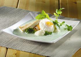 Waterzooi met tofu en gepocheerd eitje