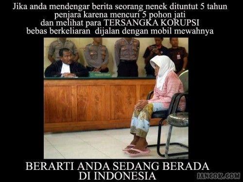 nenek dituntut 5 tahun, hanya ada di indonesia