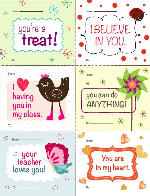 FREE printable Valentines for students from teacher.  Thanks Scholastic!