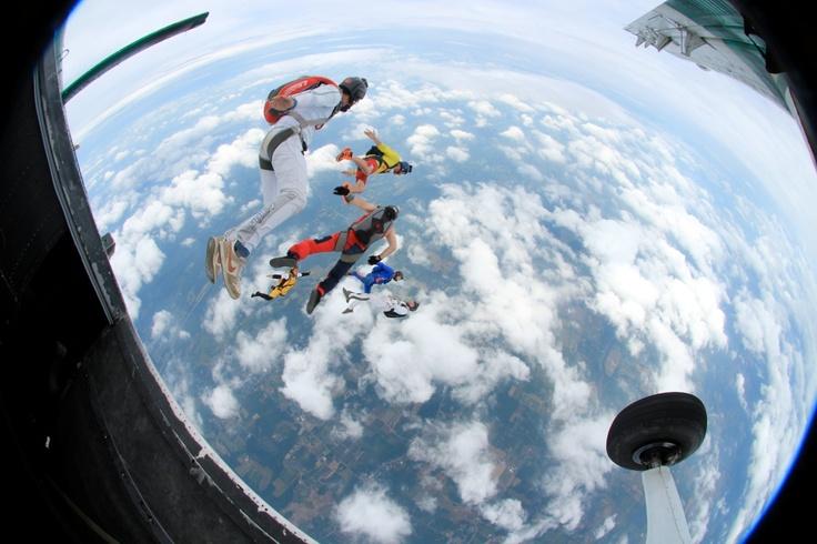 blue skies: Skydiving, Sky Diving, Blue Skies, Air