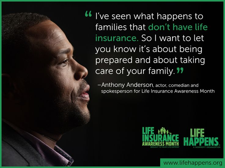 Life insurance is about being prepared - Anthony Anderson, actor, comedian and spokesperson for Life Insurance Awareness Month. September is Life Insurance Awareness Month: http://lifehap.pn/1Ef4XN1