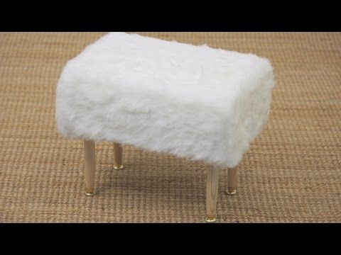 House & Home Fuzzy Stool DIY - YouTube