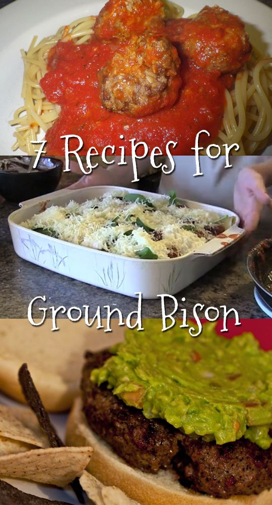 7 Delicious Recipes for cooking ground bison meat!