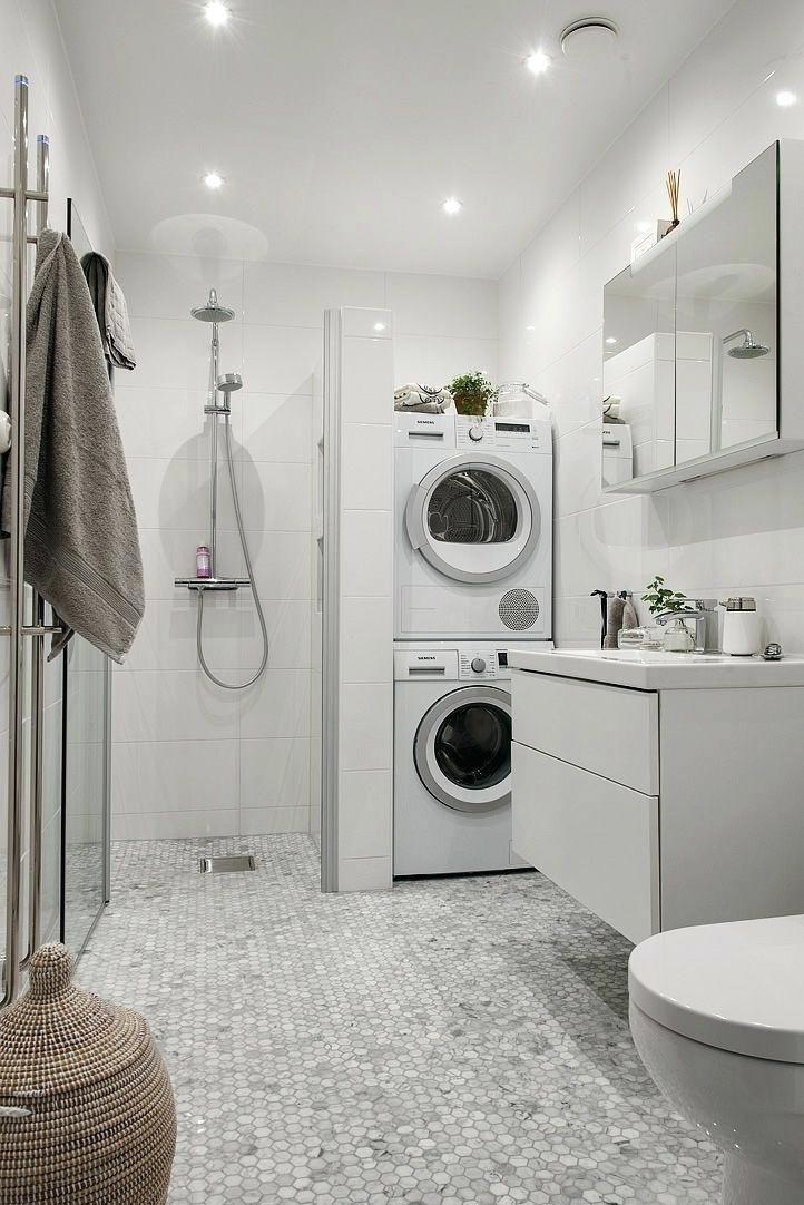Transforming Small Bathrooms In Just 6 Easy Steps Laundry Bathroom Combo Laundry Room Bathroom Laundry In Bathroom