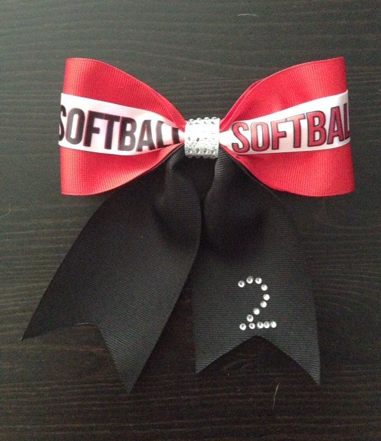 Hey, I found this really awesome Etsy listing at https://www.etsy.com/listing/178861547/softball-bows