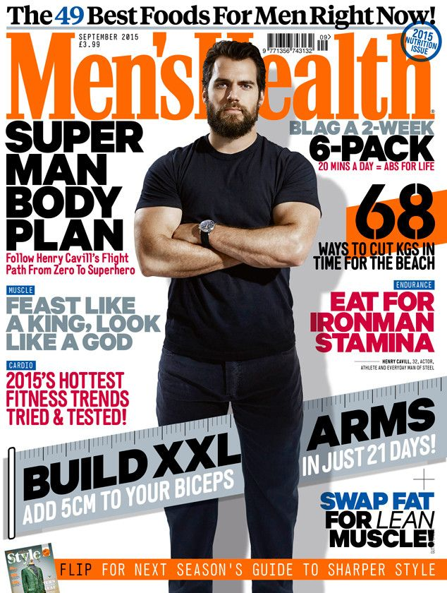 Henry Cavill Talks Superman, James Bond and Workouts in Men's Health U.K.  Henry Cavill, Men's Health UK