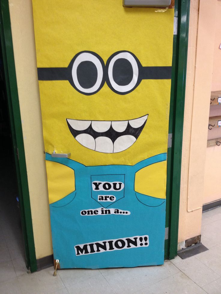 "1000+ images about ""One in a Minion"" door decor 