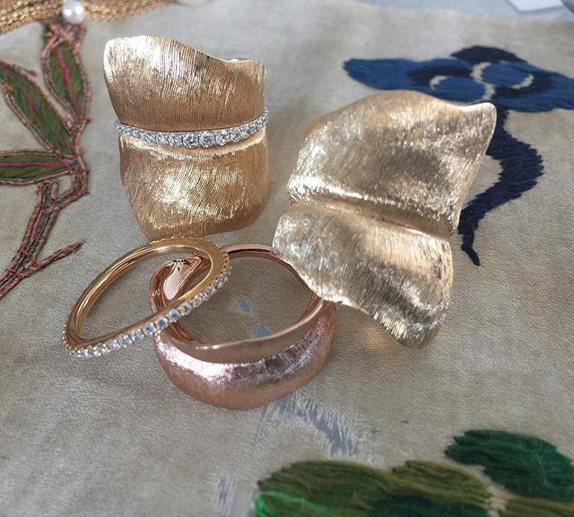 Leaf Collection rings / Charlotte Lynggaard / Ole Lynggaard Copenhagen
