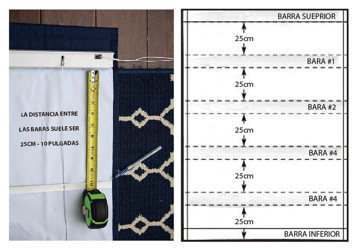 Como hacer cortinas romanas de tela sin coser