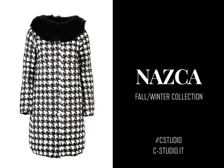 Nazca ▲ Coat in jaquard fabric - pure european down padding submitted to waterblock treatment - press buttons - pockets -  lenght sleeves - wide neckline - also available with, mourmasky fur collar - soft fit