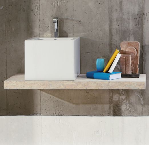 FZ13 | Frozen Ceramica Simas Wall hung washbasin 50 pre-punched for single tap hole