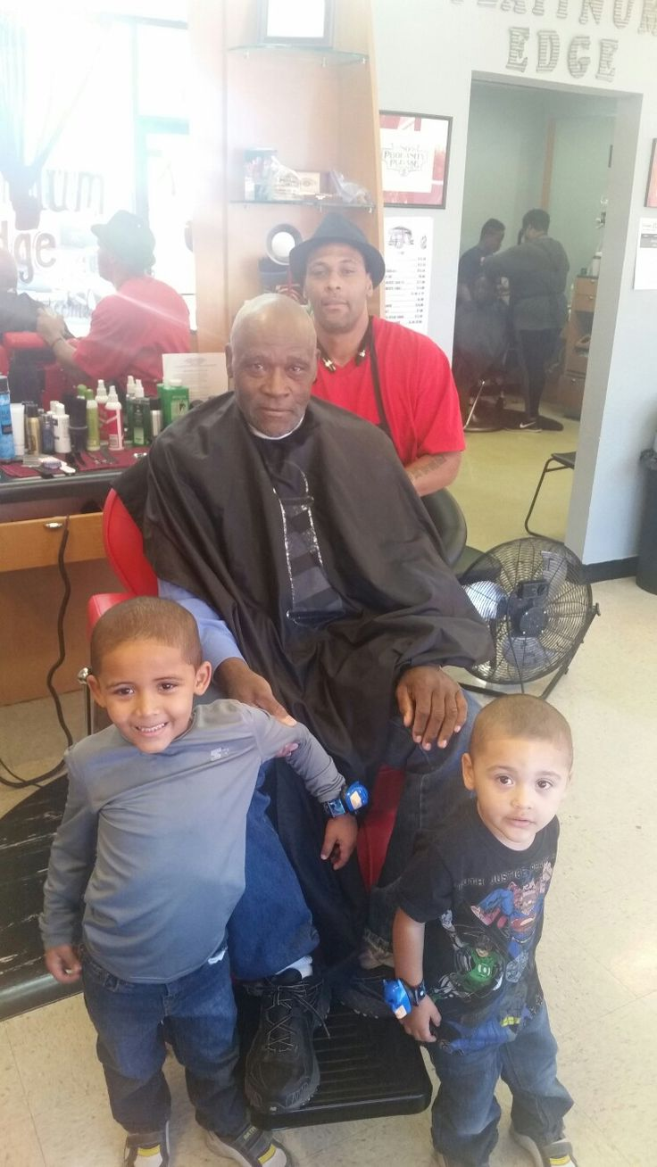Me my father and the boys at the shop. The generation carries on