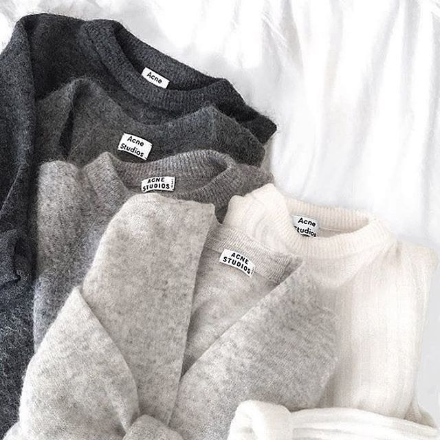 Acne studios sweaters in every shade. // Follow @ShopStyle on Instagram to shop this look