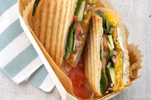 California Sourdough Veggie Panini recipe